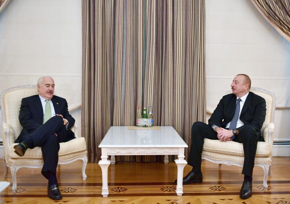 Президент Ильхам Алиев принял президента Центристского демократического интернационала