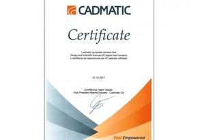 CADMATİC şirkəti ASCO-nun institutuna sertifikat verib