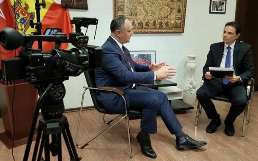 Moldova prezidenti Rumıniyanı dövlət sərhədləri haqqında müqaviləni imzalamağa çağırıb