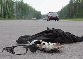 Ağstafada avtomobil qadını vurdu