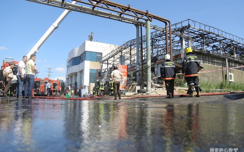 В Хатаинском районе произошел сильный пожар - ФОТО - ВИДЕО - ОБНОВЛЕНО