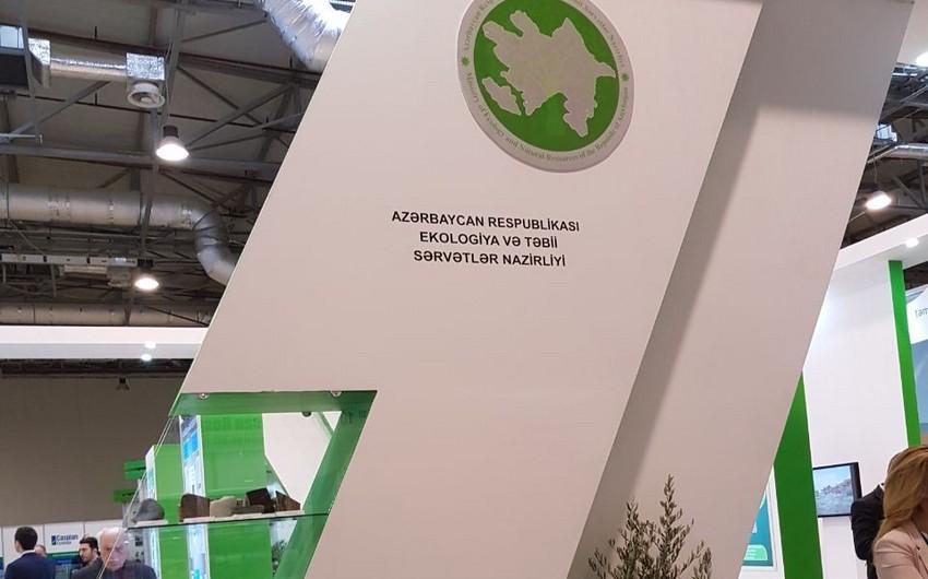 """""""Caspian Ecology"""" 2017 sərgisində ETSN-in stendləri nümayiş etdirilir"""