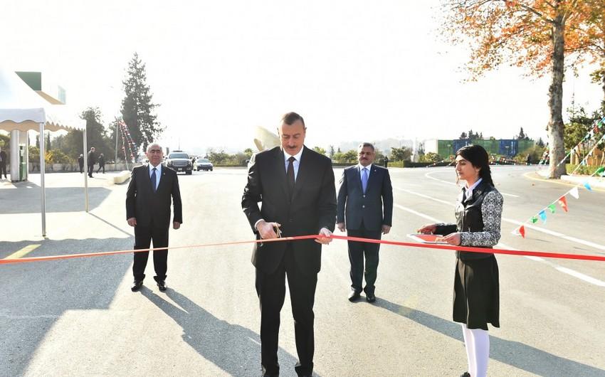 Tərtər-Seydimli-Qaradağlı-Sarov avtomobil yolunun açılışı olub