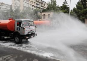 Bakıda 551 küçə dezinfeksiya edildi