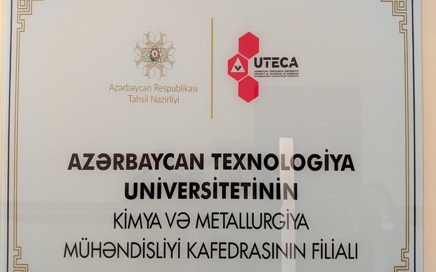 Azəralüminium Zavodunda Azərbaycan Texnologiya Universitetinin kafedrası açılıb