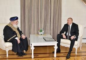 President Ilham Aliyev received Sephardic Chief Rabbi of Jerusalem