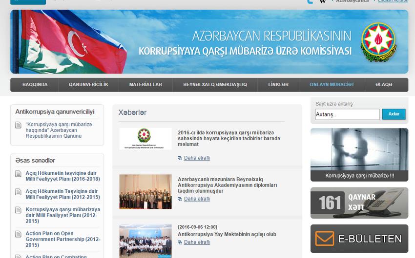Korrupsiyaya Qarşı Mübarizə Komissiyası: Keçən il Azərbaycan üçün genişmiqyaslı iqtisadi islahatlar ili olub