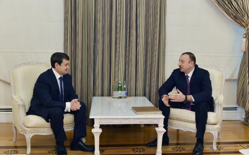 Azərbaycan Prezidenti Rusiya Prezidentinin köməkçisini qəbul edib