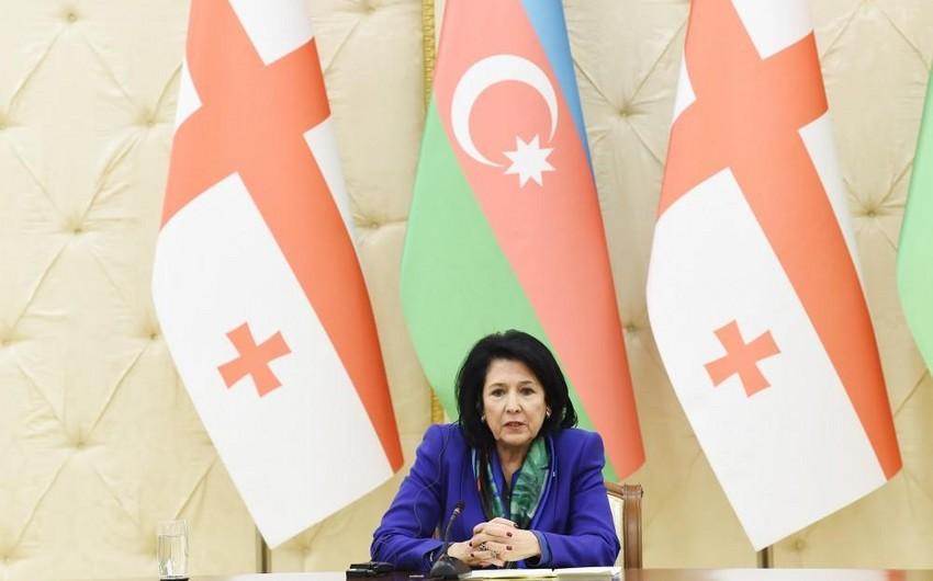 Gürcüstan prezidenti Azərbaycana təşəkkür edib