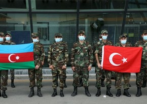 Another group of Azerbaijani Ministry of Emergency Situations heading to Turkey through Georgia