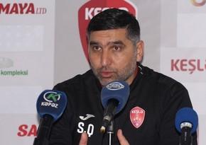 Keşlənin baş məşqçisi: Futbolun tərs üzü ilə rastlaşdıq