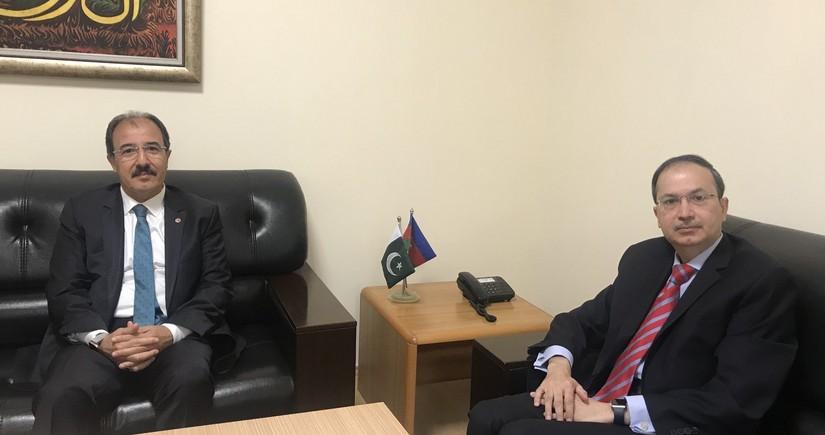 Turkish and Pakistani ambassadors to Azerbaijan hold meeting