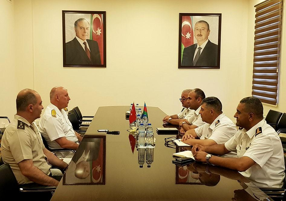 Azerbaijan and Turkey Naval Forces delegations held a meeting