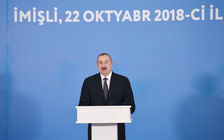 Prezident İlham Əliyev: Son 15 il ərzində ölkəmizdə iqtisadiyyat üç dəfədən çox artıb