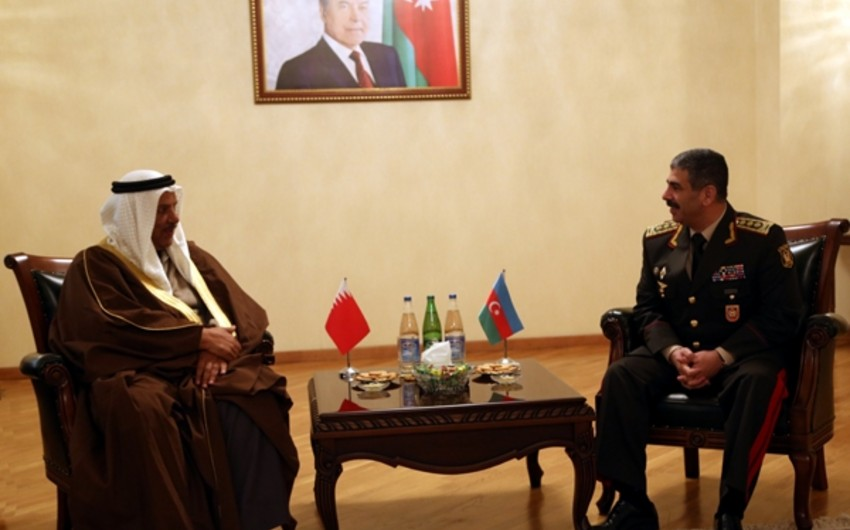 Issues on bilateral military cooperation between Azerbaijan and Bahrain discussed