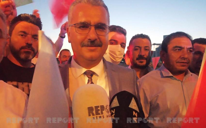 Представитель АКP: Мы увидели, что наши азербайджанские братья вместе с нами