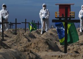 В Бразилии за сутки коронавирусом заразились более 10 тыс. человек
