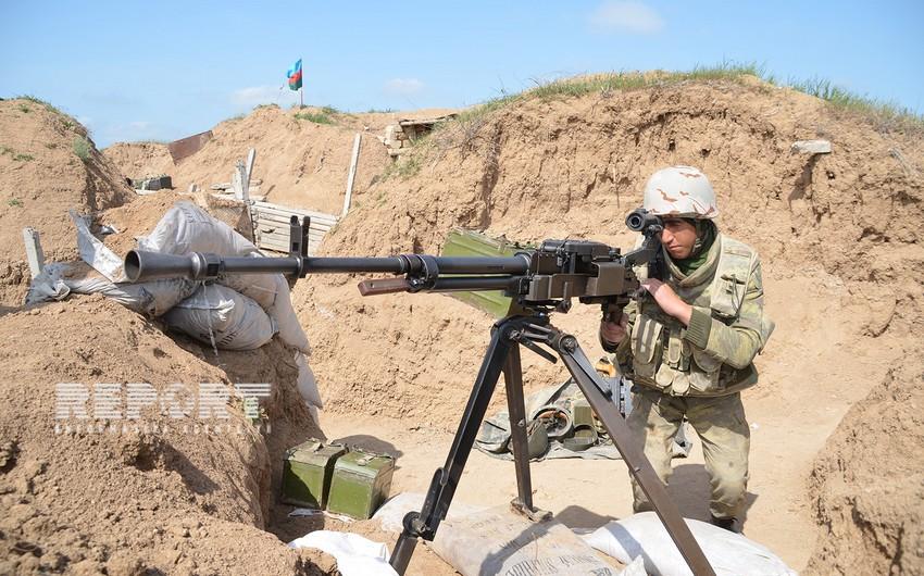Erməni silahlı bölmələri Azərbaycan ordusunun mövqelərini pulemyotlardan atəşə tutub
