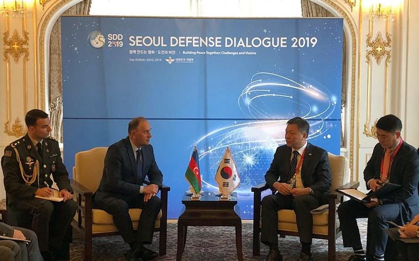 Обсуждены перспективы развития военного сотрудничества между Азербайджаном и Южной Кореей