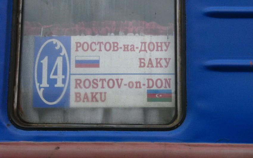 Rostov-Bakı beynəlxalq sərnişin qatarının hərəkət cədvəlində dəyişiklik edilib
