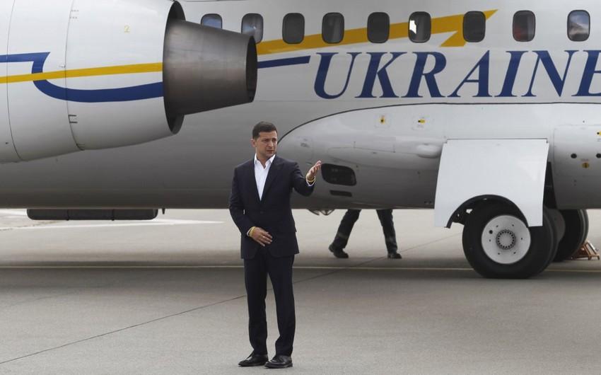 Ukrayna prezidentinin təyyarəsində texniki nasazlıq yaranıb