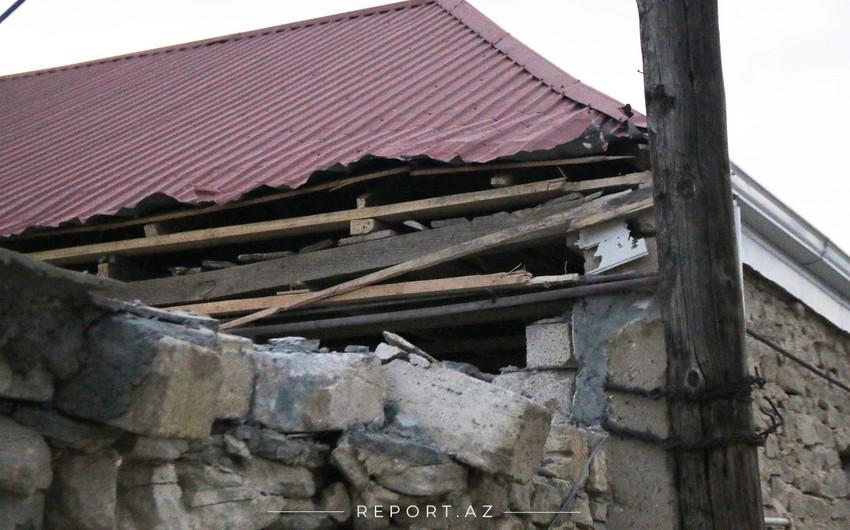 Ermənistan silahlı qüvvələri mülki obyektlərə ziyan vurub