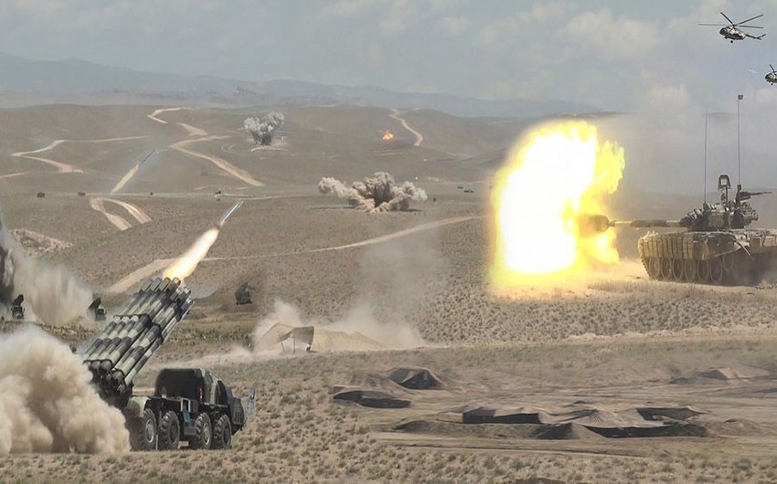 Troops of the Nakhchivan garrison were brought up to a level of combat readiness - VIDEO