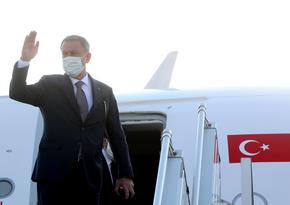 Türkiyənin müdafiə naziri Azərbaycana yola düşüb