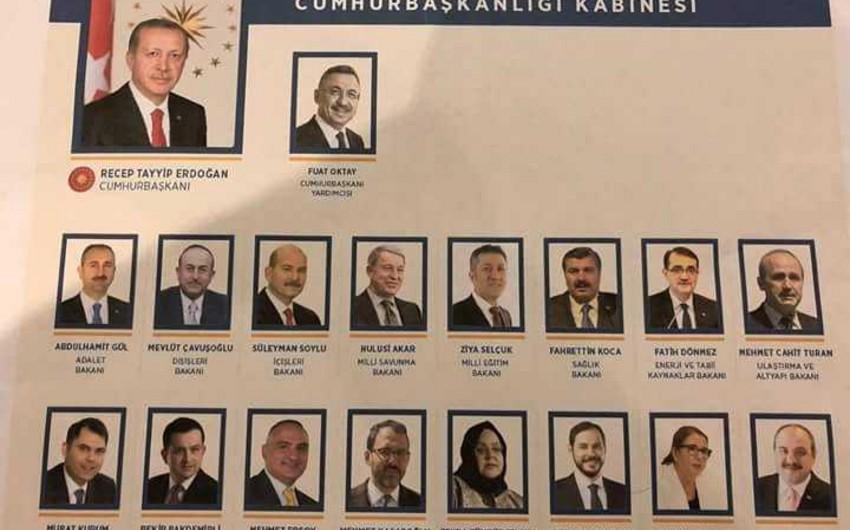 Türkiyədə Nazirlər Kabinetinin yeni tərkibi açıqlanıb - SİYAHI