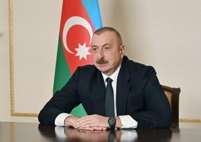 Azərbaycan Prezidenti Cənub Qaz Dəhlizinin inşasında iştirak edən bütün tərəfdaşlara təşəkkürünü bildirib