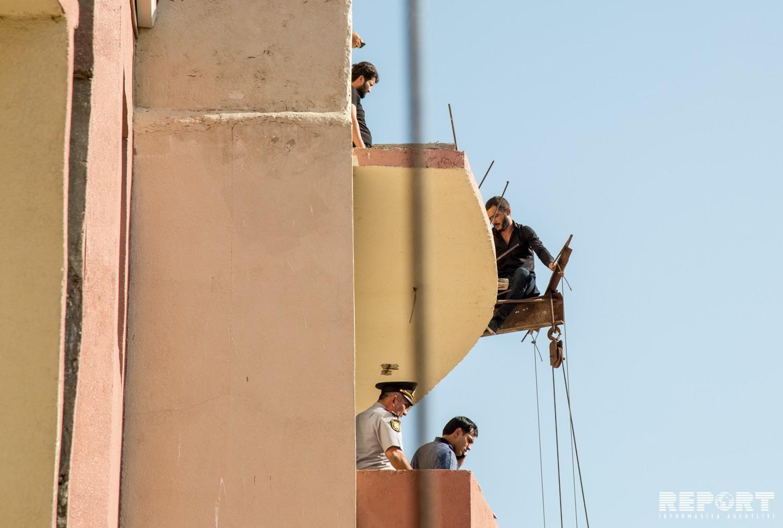 В Баку четверо рабочих, которые не могли получить зарплату, пытались покончить с собой - ФОТО - ВИДЕО - ОБНОВЛЕНО