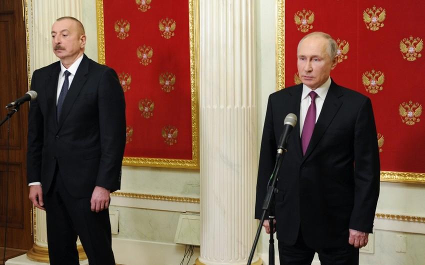 Президенты Азербайджана и России и премьер-министр Армении выступили с заявлением для печати