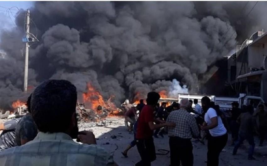 Suriyada avtomobilin partladılması nəticəsində 5 nəfər ölüb - VİDEO