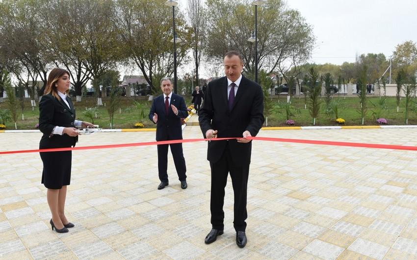 Heydər Əliyev Fondunun təşəbbüsü ilə Beyləqanda inşa edilən 240 şagird yerlik məktəb binası istifadəyə verilib