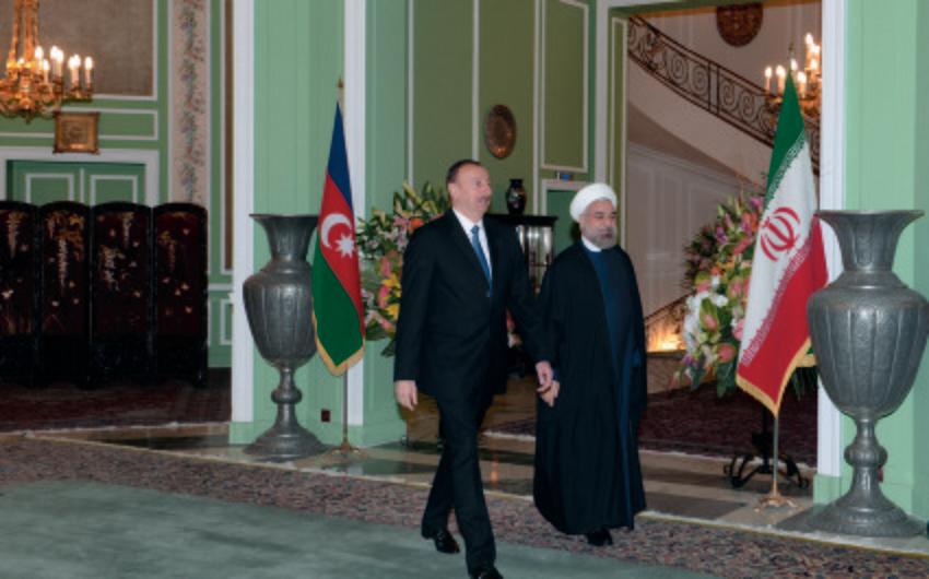 Azərbaycan prezidenti İlham Əliyevlə İran prezidenti Həsən Ruhani arasında görüş olub