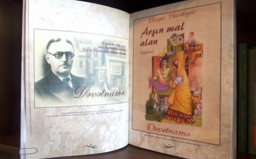 """""""Arşın mal alan"""" operettasının 100 illiyinə həsr olunan kitab çap edilib"""
