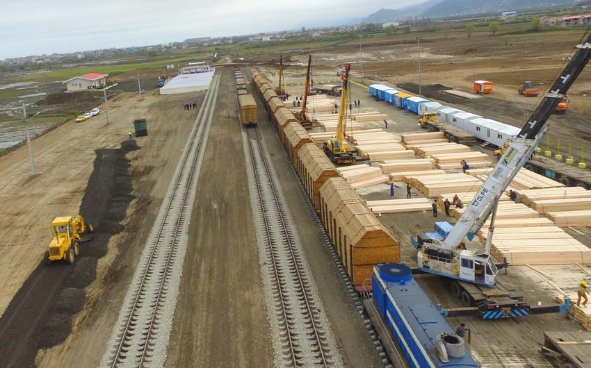 Ötən il Astara terminalında gündəlik 1 400 ton yük aşırılıb