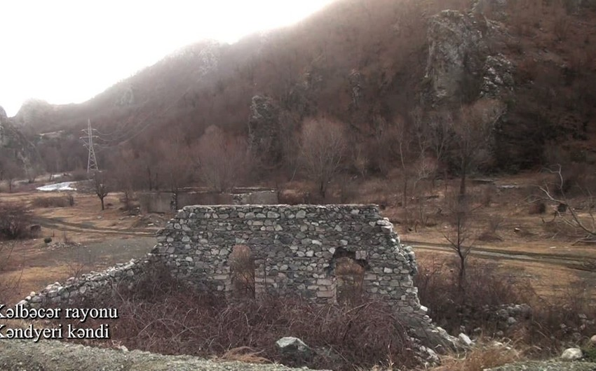 Footage from Kendyeri village of Kalbajar region