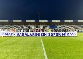 Azərbaycan çempionatının oyununda faşizm üzərində Qələbə Günü qeyd olundu