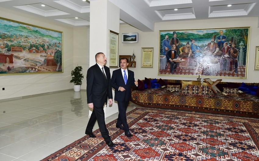Prezident İlham Əliyev Gəncədə Mirzə Şəfi Vazeh muzeyinin açılışında iştirak edib