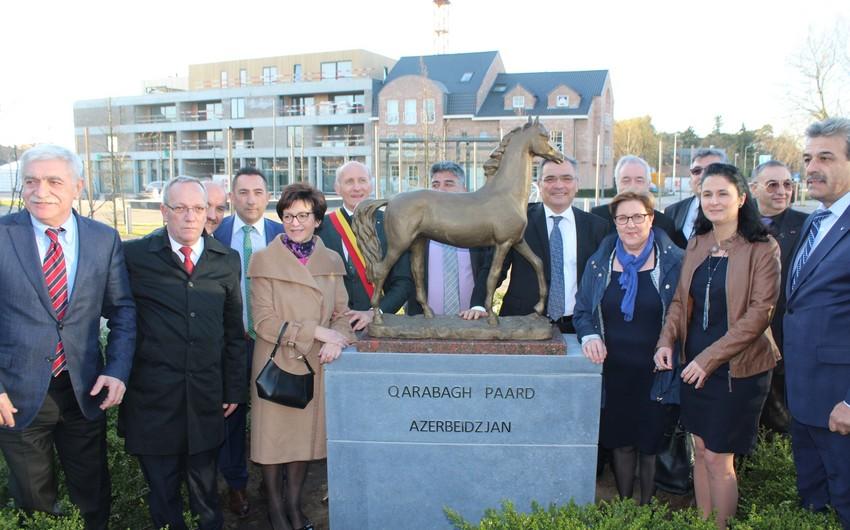 Belçikanın Ham şəhərində Qarabağ Atı abidəsinin açılışı olub