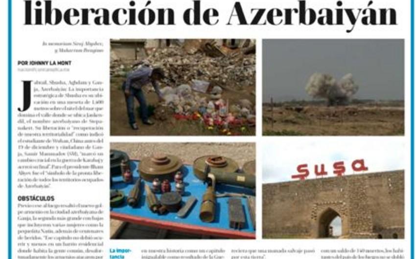 Meksikalı jurnalistin Qarabağ təəssüratları yerli mətbuatda geniş işıqlandırılıb