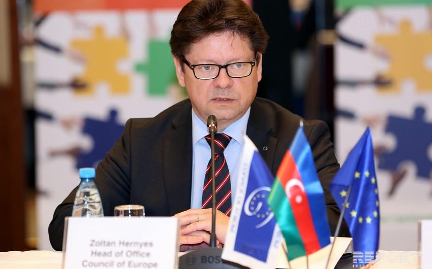 Avropa Şurasının nümayəndəsi: Azərbaycan təşkilatın tamhüquqlu üzvüdür