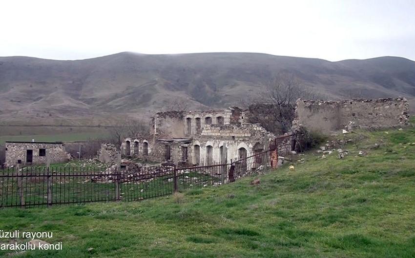 Füzuli rayonunun Qarakollu kəndindən videogörüntülər
