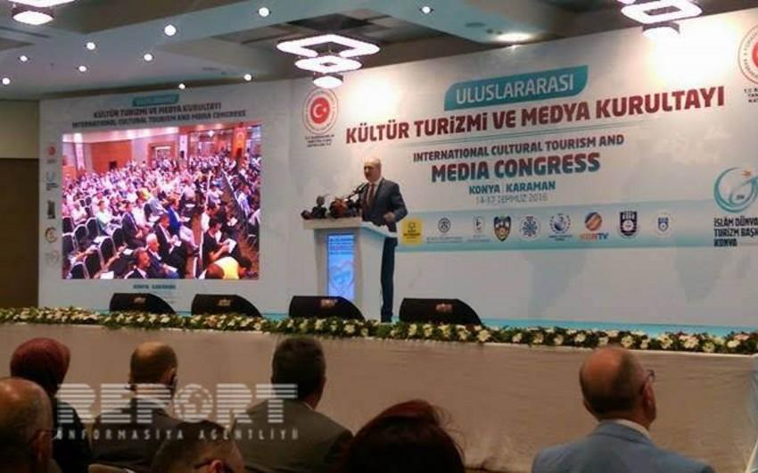 Türkiyənin Konya şəhərində beynəlxalq mədəniyyət, turizm və media qurultayı keçirilib - FOTO
