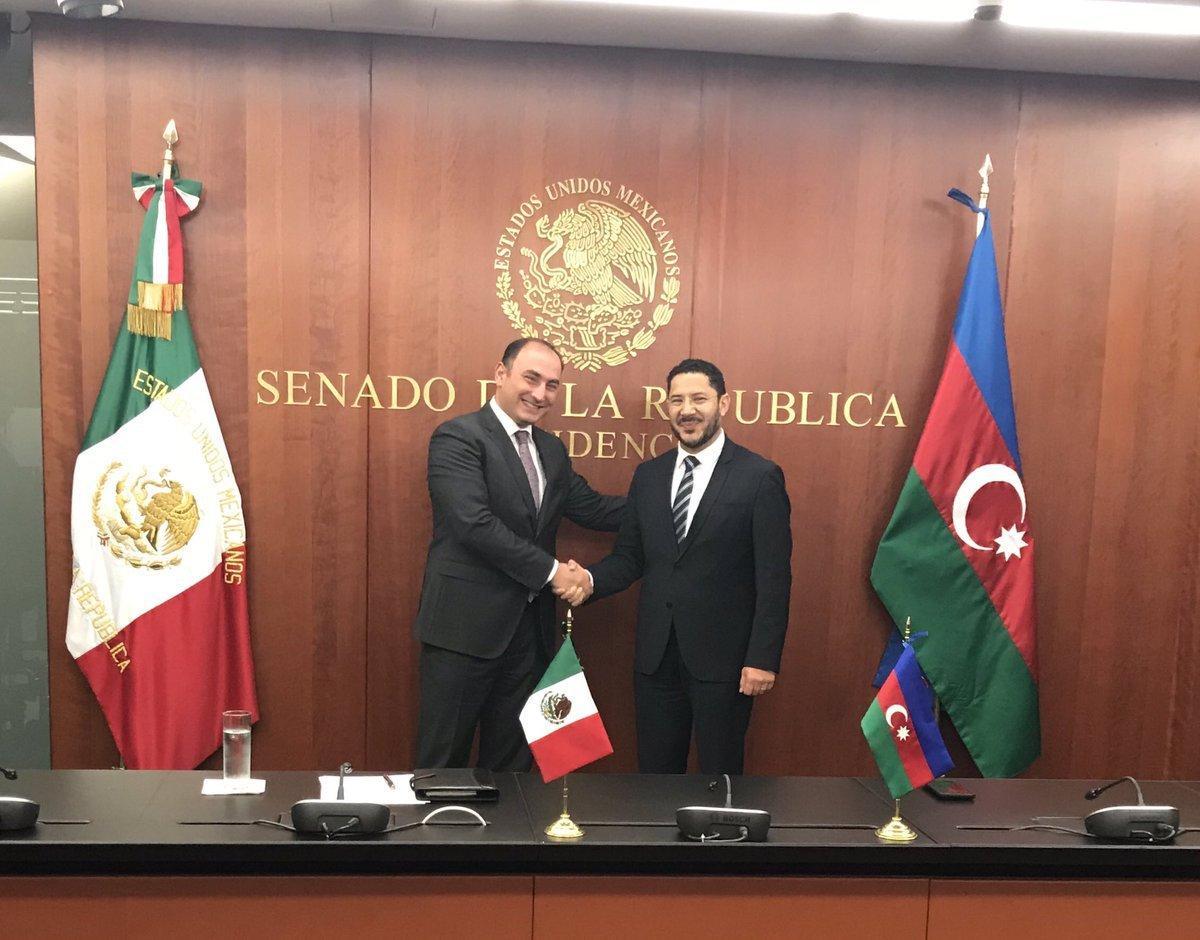 Azərbaycanla Meksika arasında parlament səviyyəsində əlaqələrin qurulması müzakirə olunub