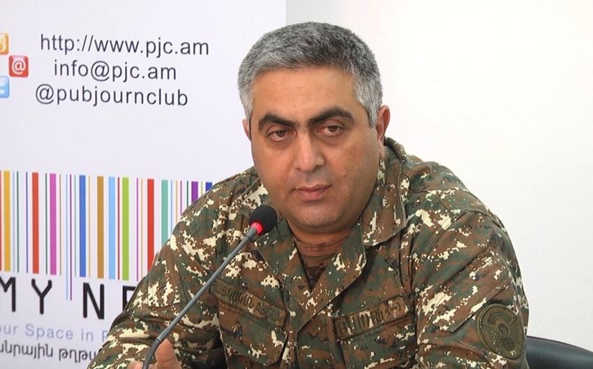 Ermənistan Müdafiə Nazirliyinin sözçüsü istefa verib