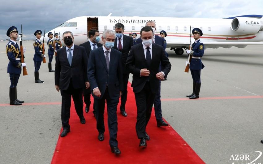 Gürcüstanın Baş naziri Azərbaycana gəlib