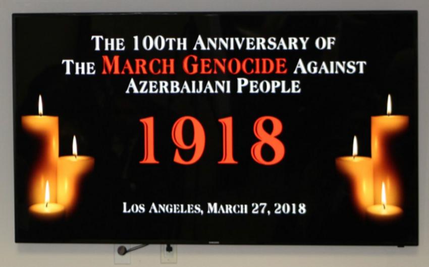31 Mart - Azərbaycanlıların Soyqırımı Günü Los-Ancelesdə anılıb