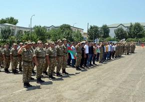 В Азербайджанской Армии состоялись проводы уволенных в запас военнослужащих